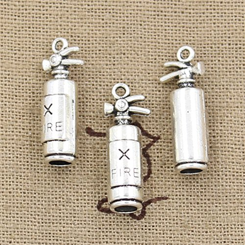 20pcs Charms fire Extinguisher Fireman 23x6x6mm Antique Making Vintage Tibetan Silver Zinc Alloy Pendant