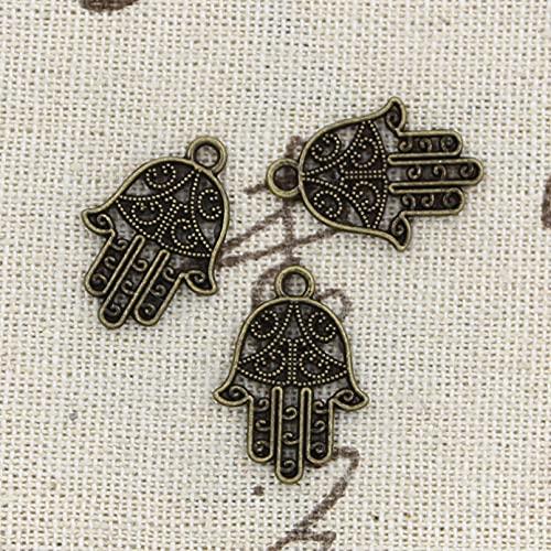 FZSWD 30 Uds Protección de Amuletos 20X15mm Colgante Hecho A Mano Que Se Ajusta A Bricolaje Tibetano Vintage DIY para Collar