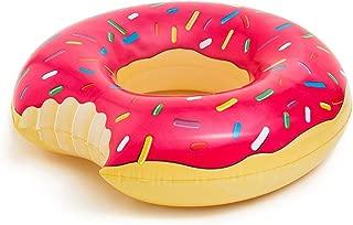ドーナツの浮き輪 Giant Donut Float 大型110cmおもしろフロート 大人&子供用うきわ (ストロベリー) [並行輸入品]