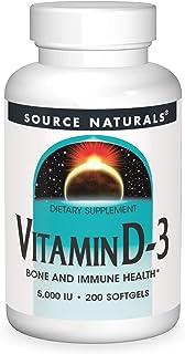Source Naturals Vitamin D-3 5000 iu Supports Bone & Immune Health - 200 Softgels