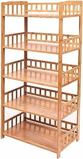 DNSJB Supports de Rangement for Organisateur de Cuisine en Bambou, Grand Support for étagère de Four à Micro-Ondes Multifo...