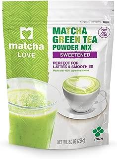 Matcha Love Green Tea Sweetened Powder 8 Ounce Packet (Pack of 1) Sweetened Green Tea Powder Antioxidant Rich High in Vitamin C Japanese Matcha Powder Mix