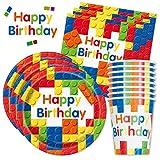 Happy Birthday PartyBox Bausteine - Das kunterbunte Party Set für eine tolle Geburtstagsfeier -...