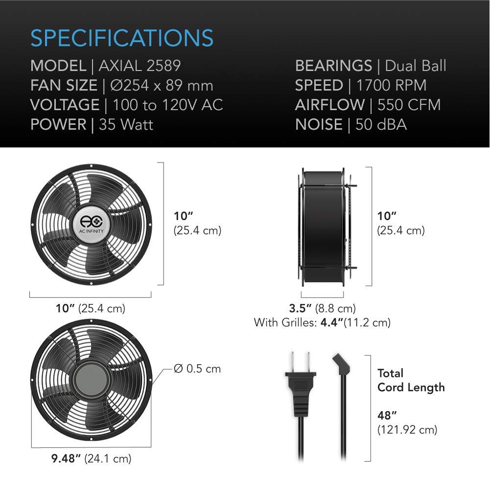 AC Infinity AXIAL 2589, Muffin Fan 10