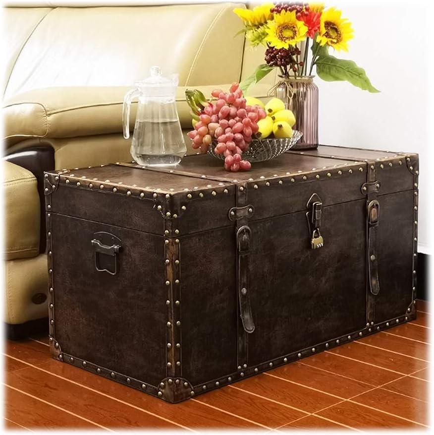 Import Decorative Boxes Vintage Treasure Albuquerque Mall Chest,Meta Suitcase,Wooden