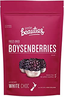Freeze Dried New Zealand Boysenberries with White Chocolate. Healthy Sweet Natural Vegan Fruit Snacks (gluten free) 1.1 oz...