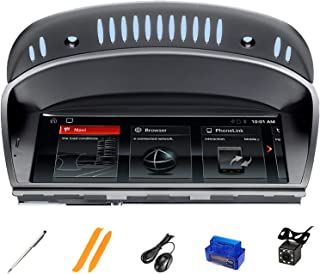 HAZYJT 8 Core 128gb Android 10 Autoradio Lecteur Multimédia GPS Unité De Tête De Navigation Compatible avec La Série B-MW ...