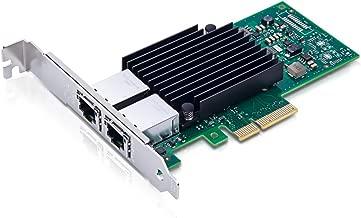 10Gb PCI-E NIC Network Card, Dual Copper RJ45 Port, PCI Express Ethernet LAN Adapter Support Windows Server/Linux/ESX, X550-10G-2T-X4