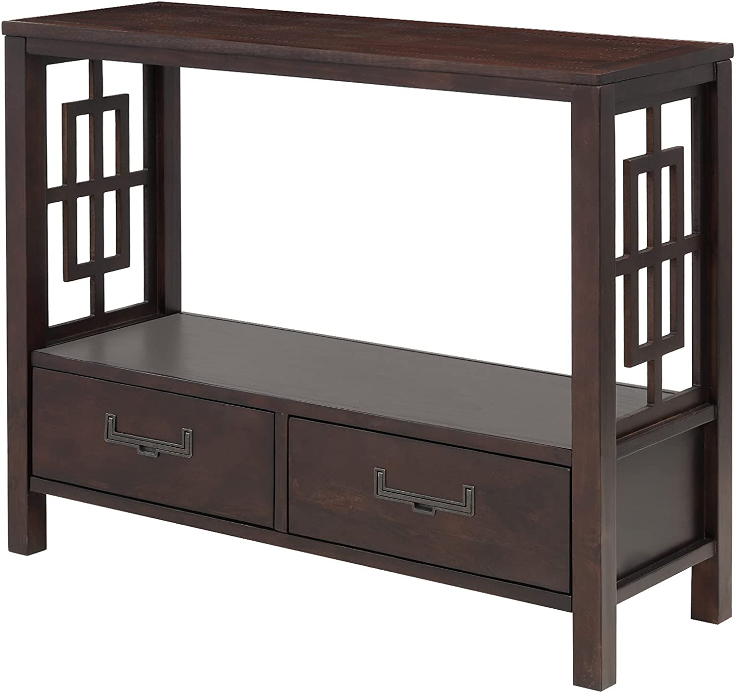 Wood Console Sofa Table with Drawers Shelf and Buf Open Storage We Popularity OFFer at cheap prices