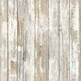 RoomMates Distressed Wood Peel and Stick Wallpaper   Removable Wallpaper for dorms