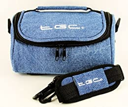 TGC Camera Case for Fujifilm FinePix S1600 with shoulder strap and Carry Handle  Full Dreamy Blue Denim