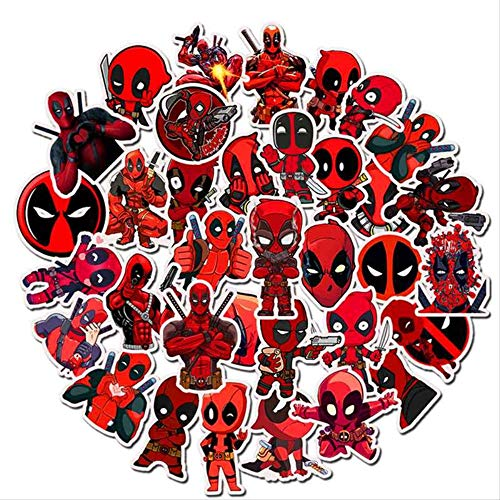 WOCAO Super Hero Deadpool Mixed Stickers Doodling Travel DIY Sticker On Luggage Motorcycle Funny Kids Graffiti Sticker 35 Pcs