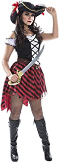 Womens Sexy Pirate Wench Costume Female Pirates Dress Quality Outfit for Women