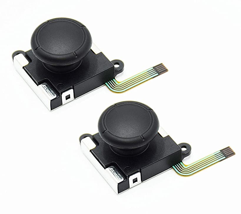 RGEEK 2 Pack 3D Analog Joystick Thumb Sticks Replacements for Nintend Switch Joy Con Controller, Replacement Left and Right Analog Controller Joystick