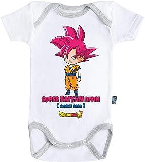 Baby Geek Kale Body B/éb/é Manches Courtes Parent Licence Officielle Dragon Ball Super /™