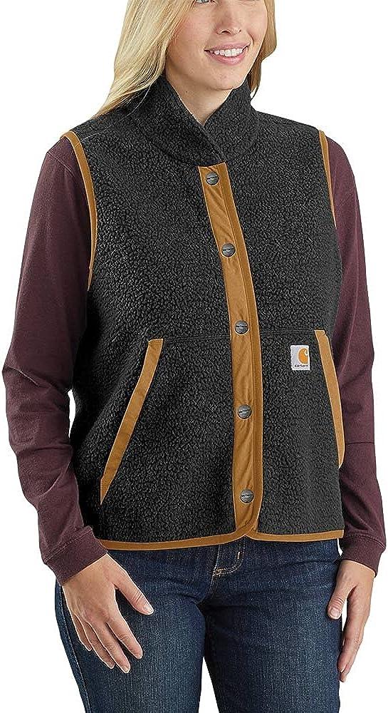 Carhartt womens Relaxed Fit Fleece Snap-front Vest