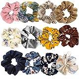 12 Pezzi Cravatte per Capelli Chiffon per Donna, Elastico per CapelliMorbido Legami di Cap...