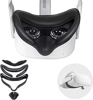 Esimen Oculus Quest 2 Facial Interface Bracket,Resilient VR Facial Vent Soft Interface Bracket & Anti-Leakage Light PU Lea...