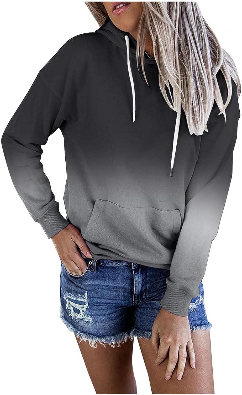 Fudule Graphic Hoodies for Women, Cute Heart Printed Sweatshirts Lightweight Fleece Hooded Jumper Fall Long Sleeve Tops