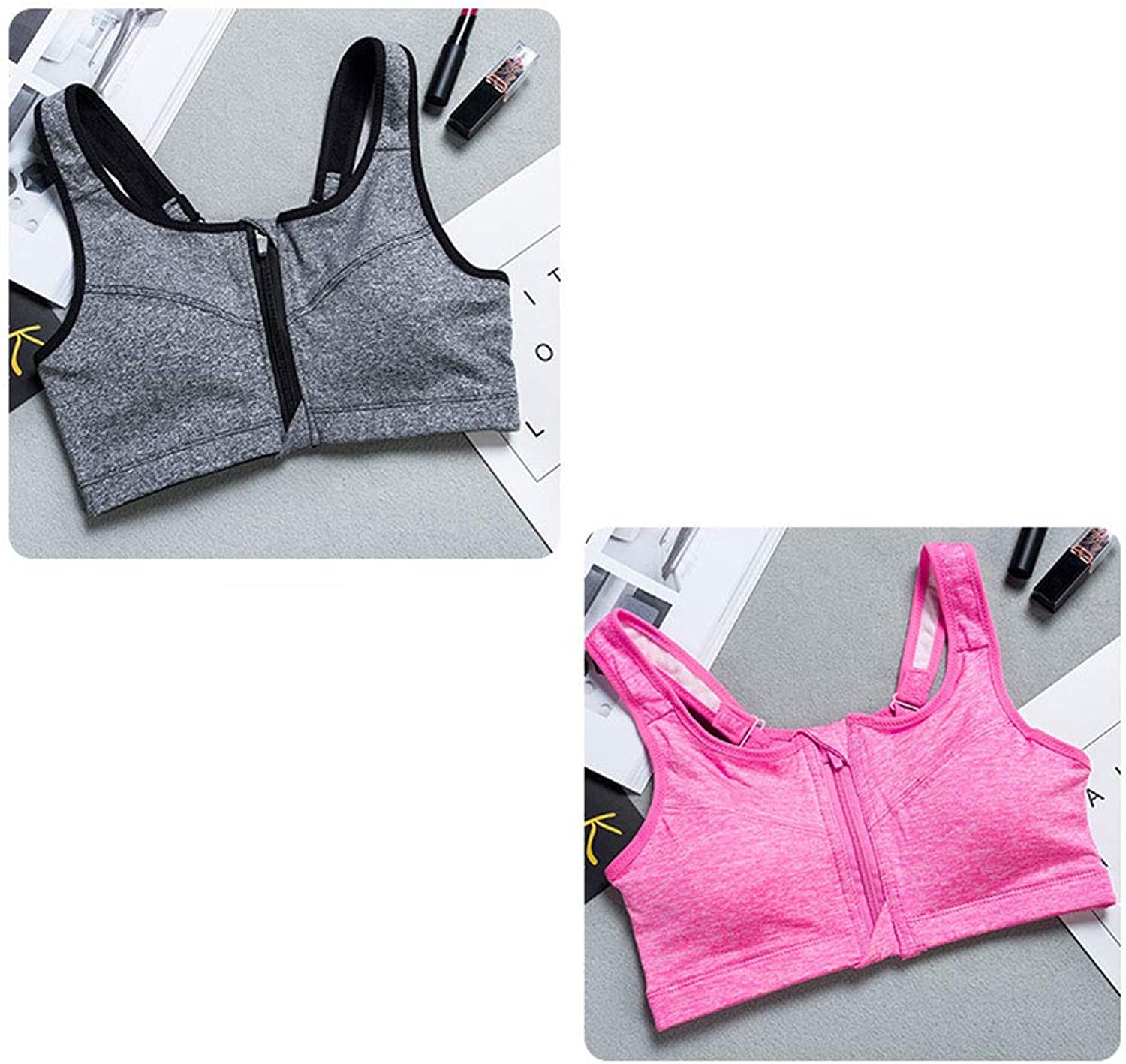 Women's Sports Bra Padded Cups Credver Back