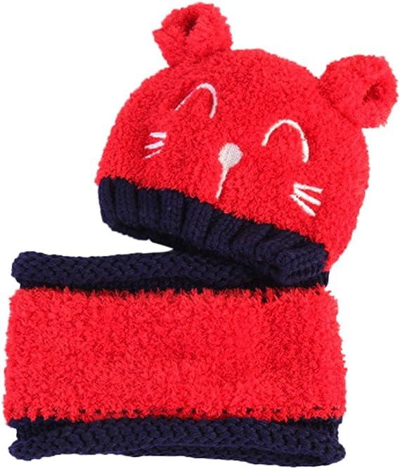 iZiv Babybekleidung Schals Niedliche Baby Kleinkind Kinder Cartoon drucken Hut Kappe M/ütze Schal Warp Set f/ür 0-2 Jahre