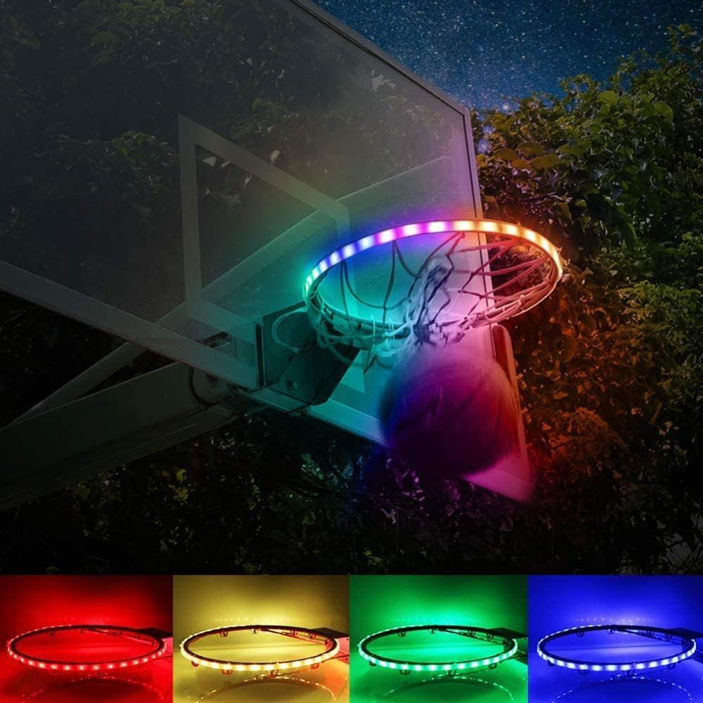 ANGOU LED Outlet SALE Basketball Basket Solar Stand Lights with N Time sale
