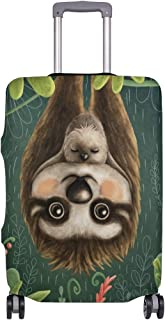 Mydaily Cute Sloth Luggage Cover Fits 18-32 Inch Suitcase Spandex Travel Baggage Protector