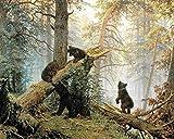 Rompecabezas 520 Piezas Lindo perrito cielo estrellado Imagen en color de madera de alta calidad pintura al óleo paisaje animales naturaleza decoración familiar arte adultos niños sala de estar