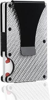 Pocket Wallet, Man Wallet Mini Carbon Fiber Wallet Smart Credit Card Holder Blocking Wallet Men Women Slim and Thin Money ...