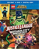 LEGO Justice League Gotham City Breakout Combo Pack (Blu-ray + DVD + Digital Copy + Nightwing Minifigure) Languages: English, Spanish & French (Audio & Subtitles)