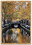 Tangletown Fine Art 47' x 32' Canal Reflections Framed Photograph Print