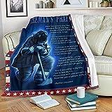 HNO Store Fireman's Prayer Blanket, Firefighter Fleece Blanket, Sofa Blanket, Bedding Blanket (30x40in)