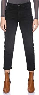 DeFacto Whiskered Side Pocket Straight-Cut Jeans for Women