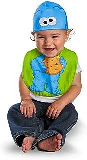 Cookie Monster Bib & Hat Baby Costume - Newborn