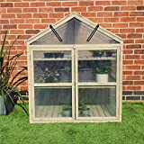 FeelGoodUK Large Cold Frame Greenhouse Flower Planter Green House Wooden Frame 120 (h) x 60 (d) x 100 (w)…