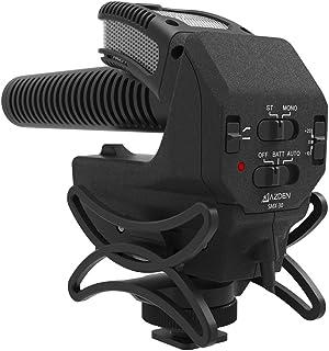 AZDEN 一眼レフ用マイク SMX-30 ステレオ/モノラル切替式 超指向性 ショックマウント・風防付属 単三型乾電池二本使用