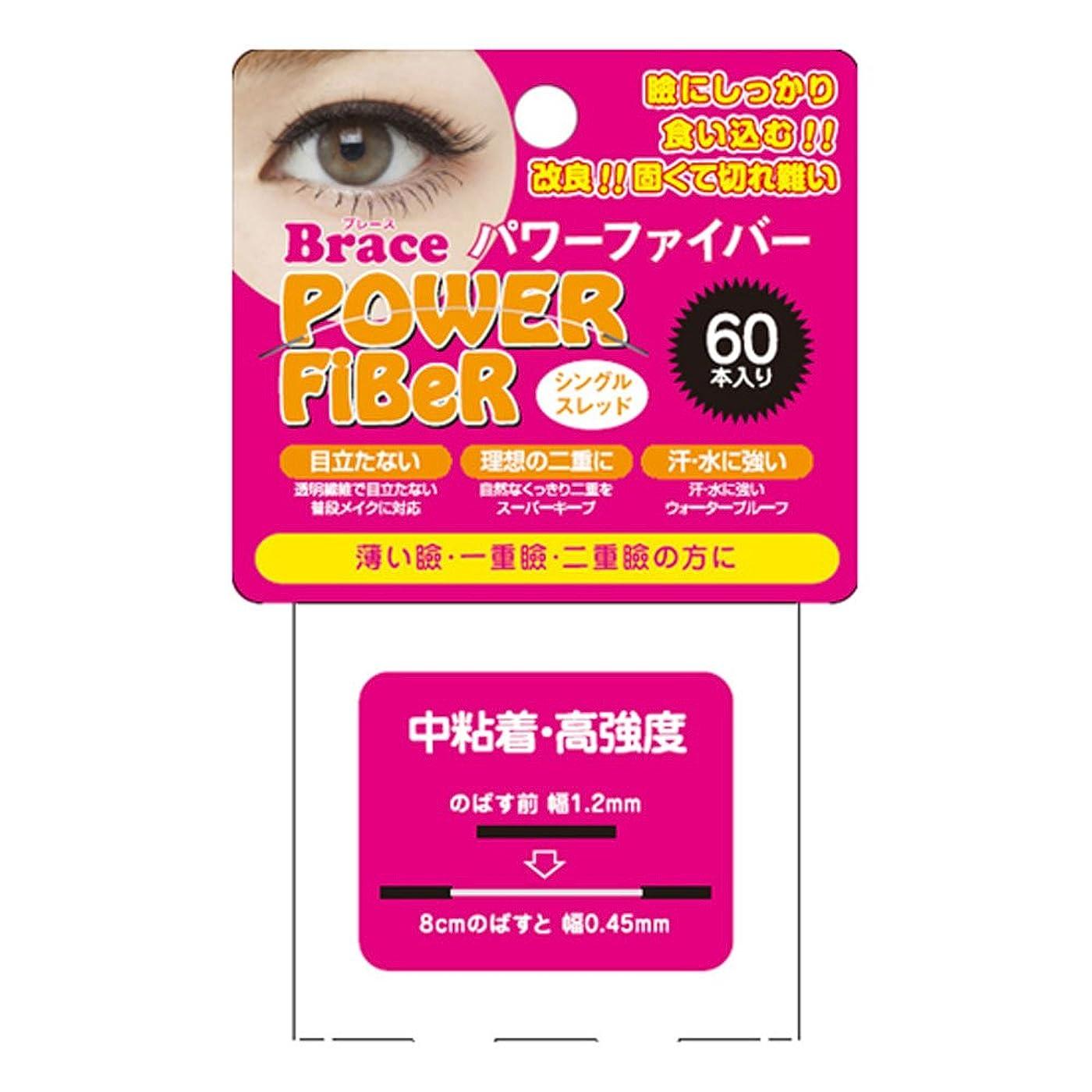 地獄消費する対Brace ブレース パワーファイバー シングルスレッド クリア 1.2mm 60本入 (眼瞼下垂防止用テープ)