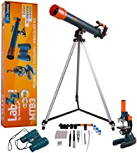 Levenhuk LabZZ MTB3 Starter Kit for Kids (Microscope, Telescope and Binoculars) – Science Set with All Necessary Accessories