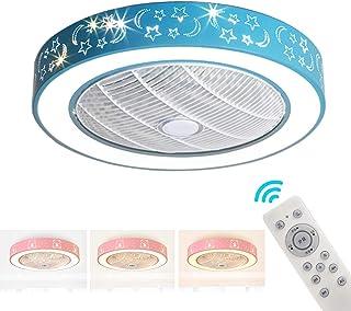 Ventilador De Techo Casa con Luz LED Luz De Techo 36W LED con Mando A Distancia 3 Palas Ahorro De Energía del Ventilador Eléctrico 3- Velocidad De Enfriamiento De Circulación De Aire