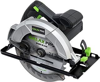 GALAX PRO Sega Circolare 1200W 5800RPM, Taglio 62mm (90°), 42mm (45°), Doppio Tasto di Sicurezza, Guida Parallela, Chiave ...