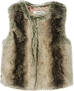 sunnymi - Abrigo para niños y bebés, de Peluche, sin Mangas, cálido