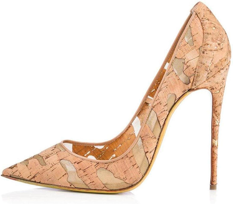 Frauen Feiner High Heels Woody Breathable Spitz Single Schuhe Bequeme Tanz Hochzeit Sandalen
