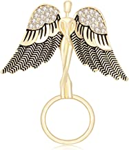 TUSHUO Angel Spread The Wings with Rhinestone Guardian Strong Magnetic Eyeglass Holder