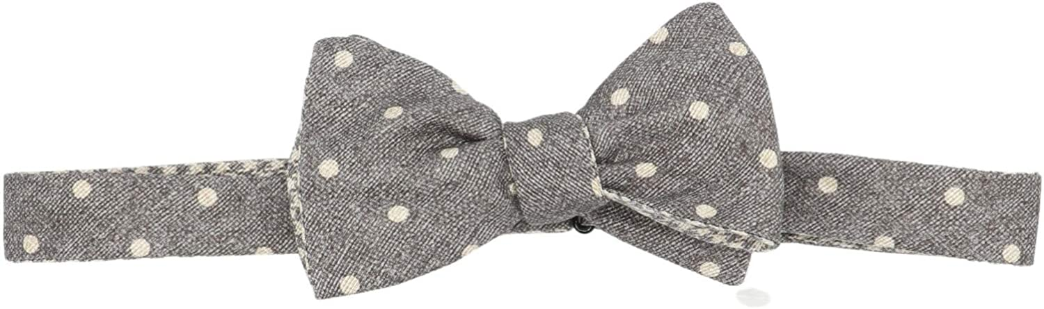 Edward Armah Men's Double Sided Polka Dot Houndstooth Bow Tie