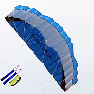 Besra Huge Dual Line Parachute Stunt Kite with Flying Tools Power Parafoil Kitesurfing Training Kites Outdoor Fun Sports for Beach