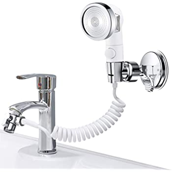 Amazon.com: ZCONIEY Handheld Shower Kit for Sink & Bathtub Faucet