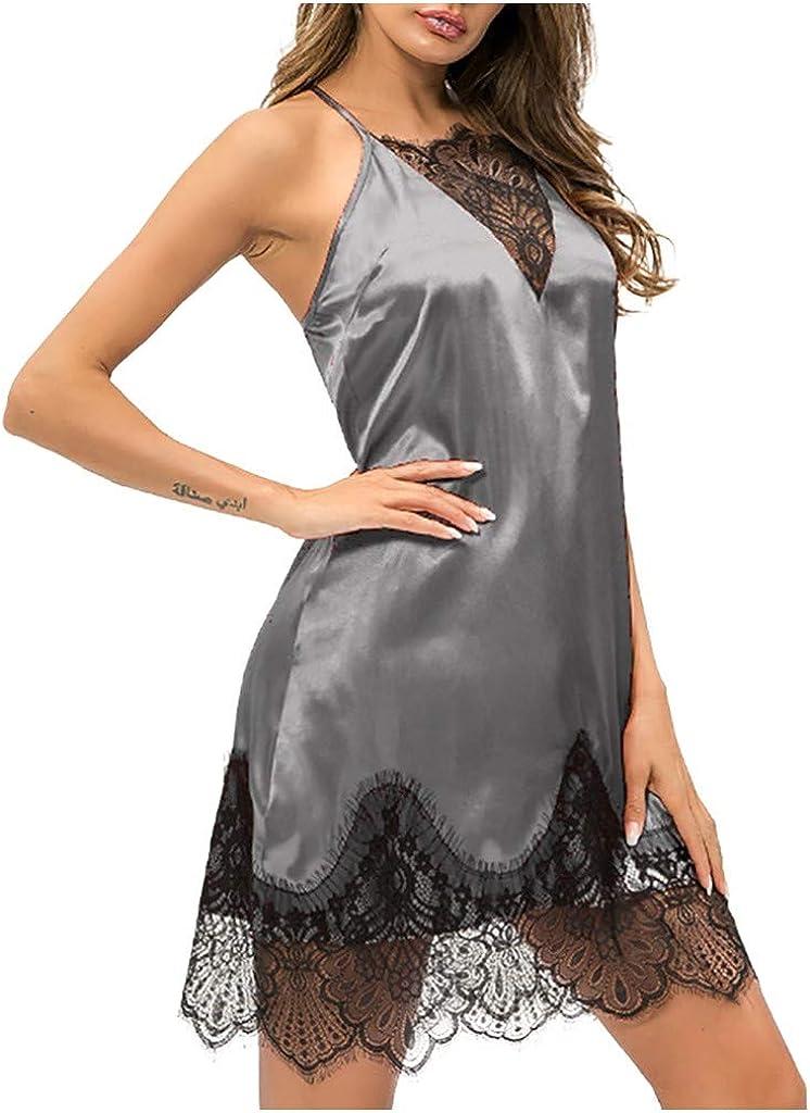 MODOQO Women's Lingerie Dress Lace Sexy Ladies Babydoll Pajamas Sleepwear