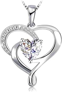 Swarovski Elements 925 Sterling Silver Pendent Necklace for Women Gift JRosee Jewelry