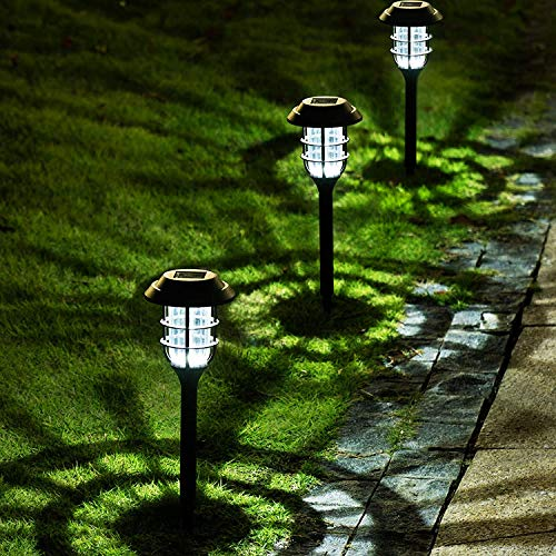 Solpex 8 Pack Solar Pathway Lights Outdoor, Solar Powered Garden Lights, Waterproof Led Path Lights for Patio, Lawn, Yard and Landscape-(Cold White)……