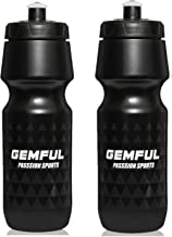 Bike Water Bottles 2 Packs 750ML BPA-Free Cycling Squeeze Bottle for Outdoor Sport (Black)